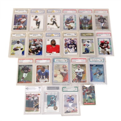 Football Phone and Graded Trading Cards
