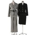 Anne Klein Herringbone Pantsuit, Albert Nipon Jacket and Spencer Tylar Skirt