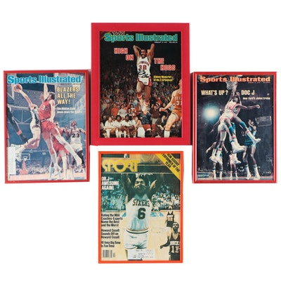 Basketball Magazines, One Signed by Sidney Moncrief, circa 1970s
