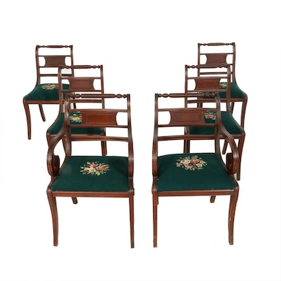 Consider H. Willett, Six Classical Style Cherry Dining Chairs, Early to Mid 20th
