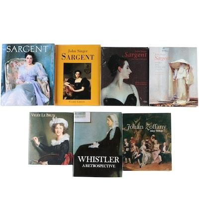 Art Books Including John Singer Sargent and Élisabeth Vigée Le Brun