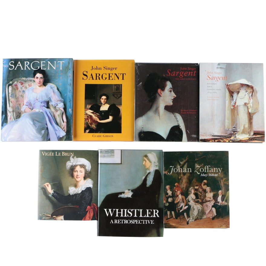 Art Books Including John Singer Sargent and Élisabeth Vigée Le Brun