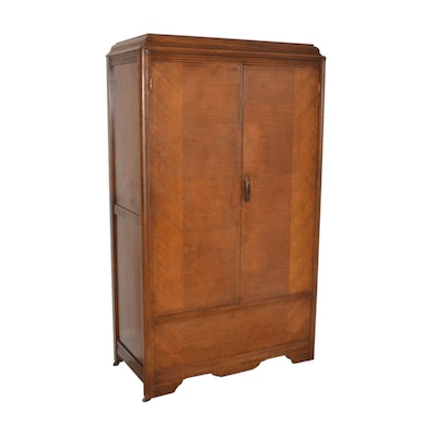 Art Deco Cedar-Lined Wardrobe, circa 1930