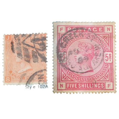 Great Britain Postage Stamps, 19th Century