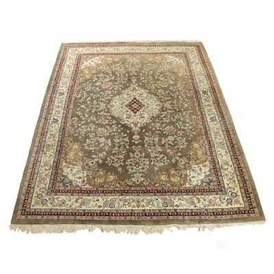 9' x 12.4' Hand-Knotted Persian Room Sized Rug