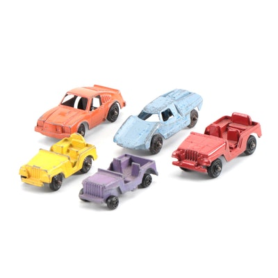Diecast Miniature Toy Cars Including Fiat Model, circa 1960s