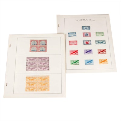 """United States Air Mail and """"Back of the Book"""" Stamp Collection"""
