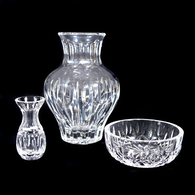 Waterford Crystal Vase, Bowl and Bud Vase