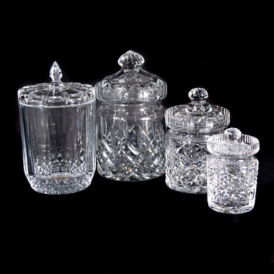 Waterford Crystal Mustard Jar and Other Crystal Biscuit Jars