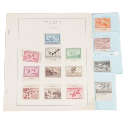 United States Migratory Bird Hunting and Conservation Stamps, Mid-20th Century
