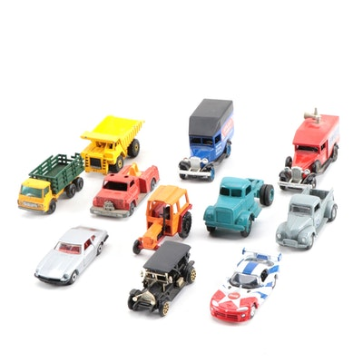 Diecast Cars and Trucks Including Matchbox and Hot Wheel Models