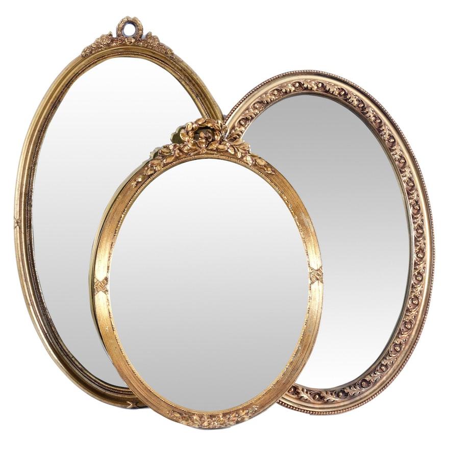 Gilt Oval Wall Mirrors by Carolina Mirror Company