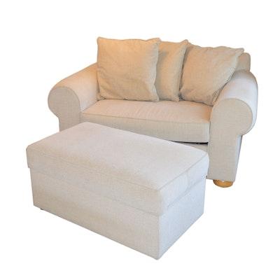 Oversized Twin Sleeper Chair and Storage Ottoman