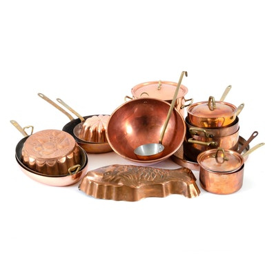 Paul Revere, Copral and Other Copper and Brass Cookware and Molds