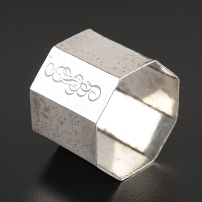 Wallace Hammered Sterling Silver Napkin Ring