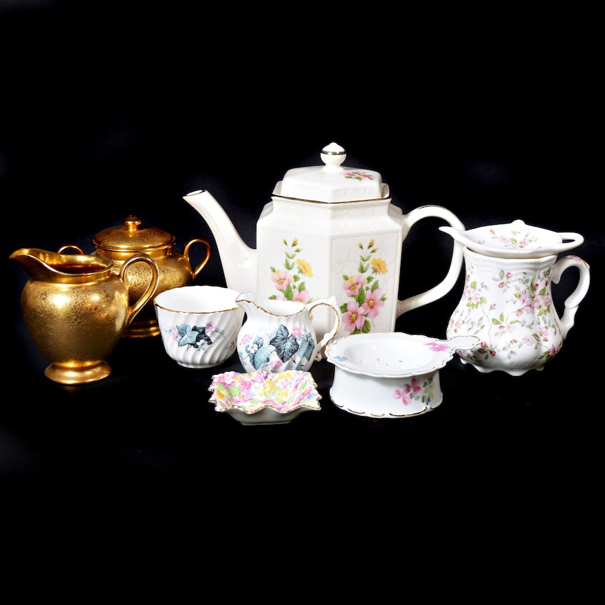 Arthur Wood, Ansley and Other Ironstone and Porcelain Tea Service Items