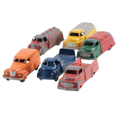 Diecast Tootsietoy Trucks and Other Vehicles, circa 1940s