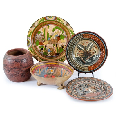 Hand-Painted Folk Pottery from Mexico