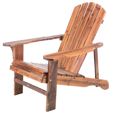 Adirondack Style Pine Lounge Chair