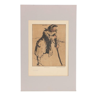 "William Nicholson Color Lithograph ""John Silver"", 1900"
