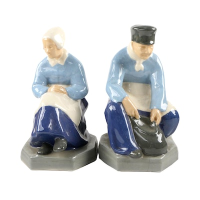 Vintage Porcelain Man and Woman Figurines