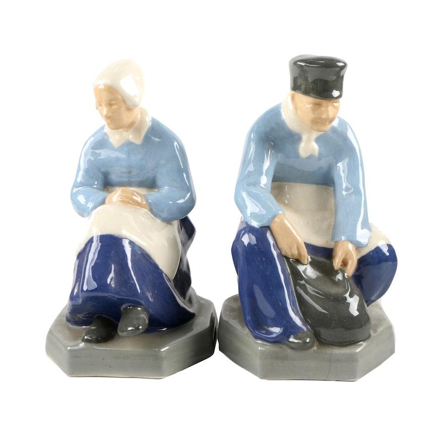 Vintage Porcelain Man and Woman Figurines