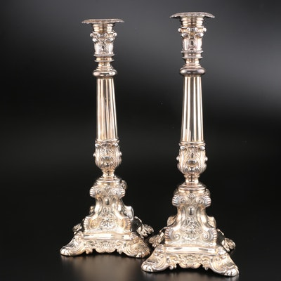 Pair of Wilcox Silver Plate Co. Candlesticks, Early/Mid 20th Century