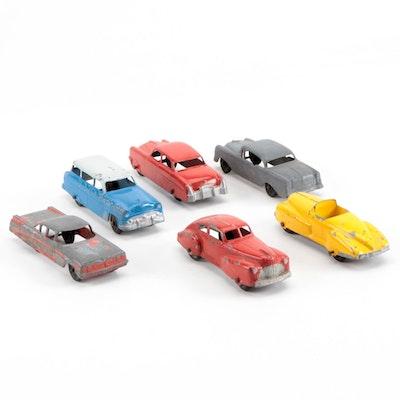 Vintage Tootsie Diecast Toy Cars, circa 1930s-1950s