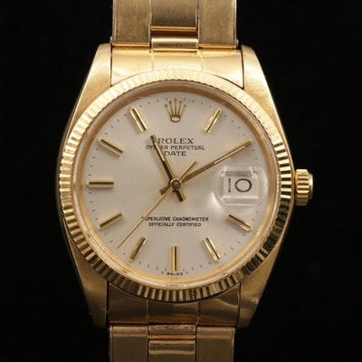 Rolex Date 1503 14K Yellow Gold Automatic Wristwatch, 1978