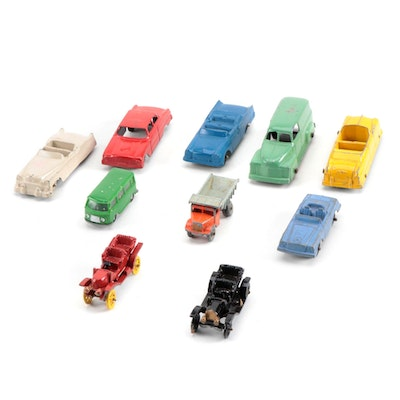 Vintage Tootsietoy Die Cast Toy Cars and Trucks, Vintage