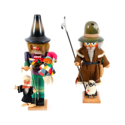 German Steinbach and Holzkunst Christian Ulbricht Hand-Painted Nutcrackers