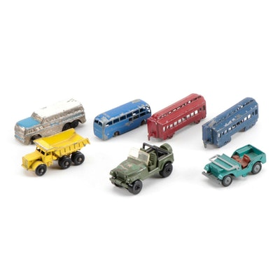 Diecast Toy Vehicles Including Greyhound Bus, circa 1930s-1960s