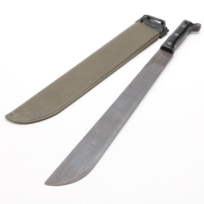 "U.S. Vietnam War Ontario Knife Company ""Victory"" Model Machete and Sheath, 1961"