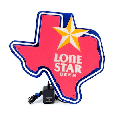 Lone Star Neon Beer Sign, Late 20th Century