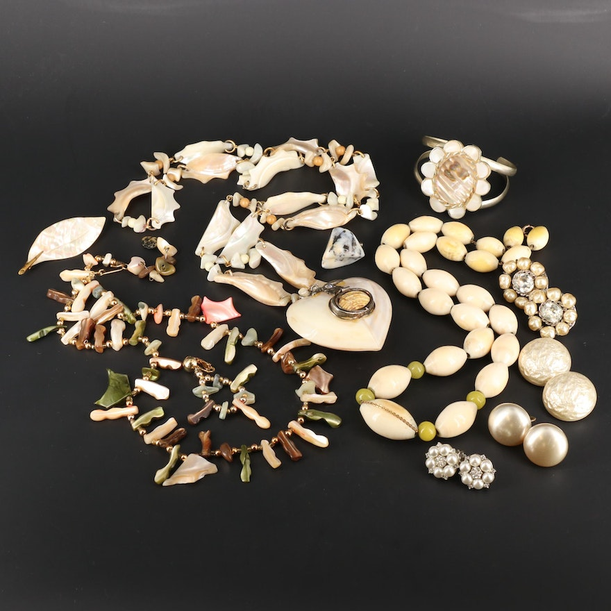 Vintage Abalone, Mother of Pearl and Pearl Jewelry
