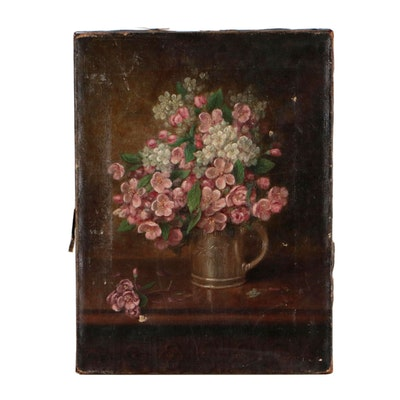 Floral Still Life Painting, Late 19th Century