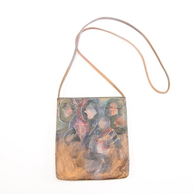 Jane Yoo Wearable Art Hand-Painted Leather Crossbody