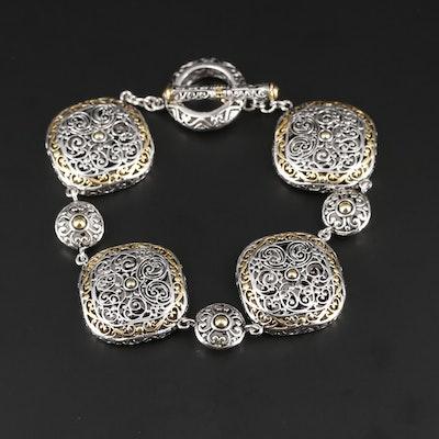 Bali Style Sterling Silver Openwork Bracelet