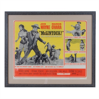 "Offset Lithograph Movie Poster ""McLintock!"" Starring John Wayne"