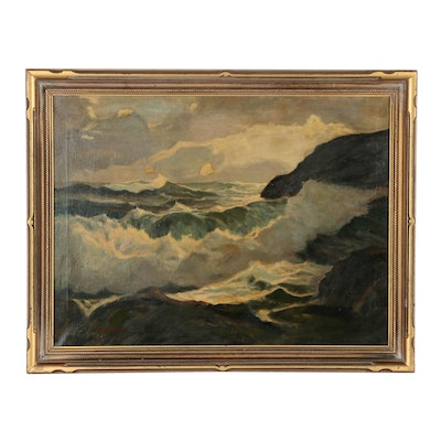Mary Cable Butler Seascape Oil Painting