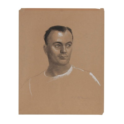 Edmond J. Fitzgerald Portrait Charcoal Drawing