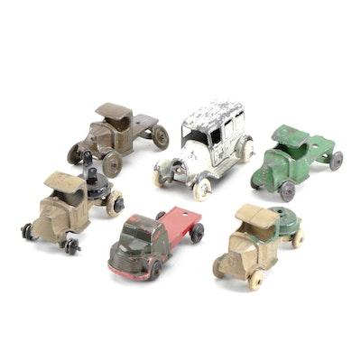 Tootsie and Midge Toy Die Cast Cars, circa 1930s-1940s