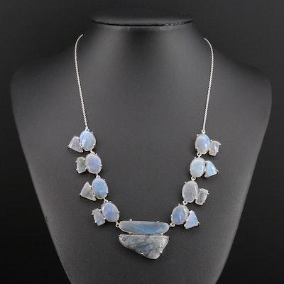 Sterling Silver Labradorite Necklace