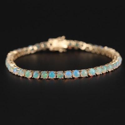 Sterling Silver Opal Bracelet