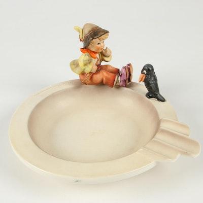 "Hummel ""Singing Lesson"" Porcelain Ashtray, 1960–1972"
