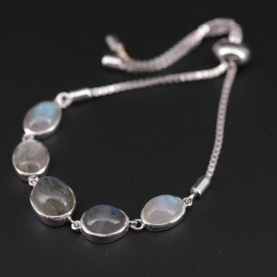 Sterling Silver Labradorite Bolo Bracelet