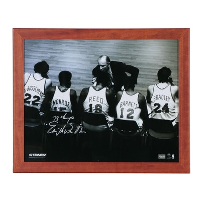 "Framed Earl ""The Pearl"" Monroe Signed Knicks  COA"