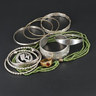 Sterling and 800 Silver Assorted Jewelry Including Kirk Stieff