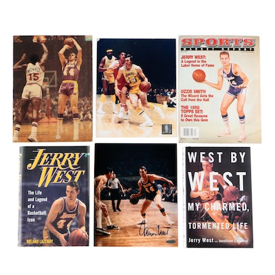 Jerry West Signed Los Angeles Lakers Photo Print with Posters and Books