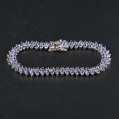 Sterling Silver Tanzanite Bracelet